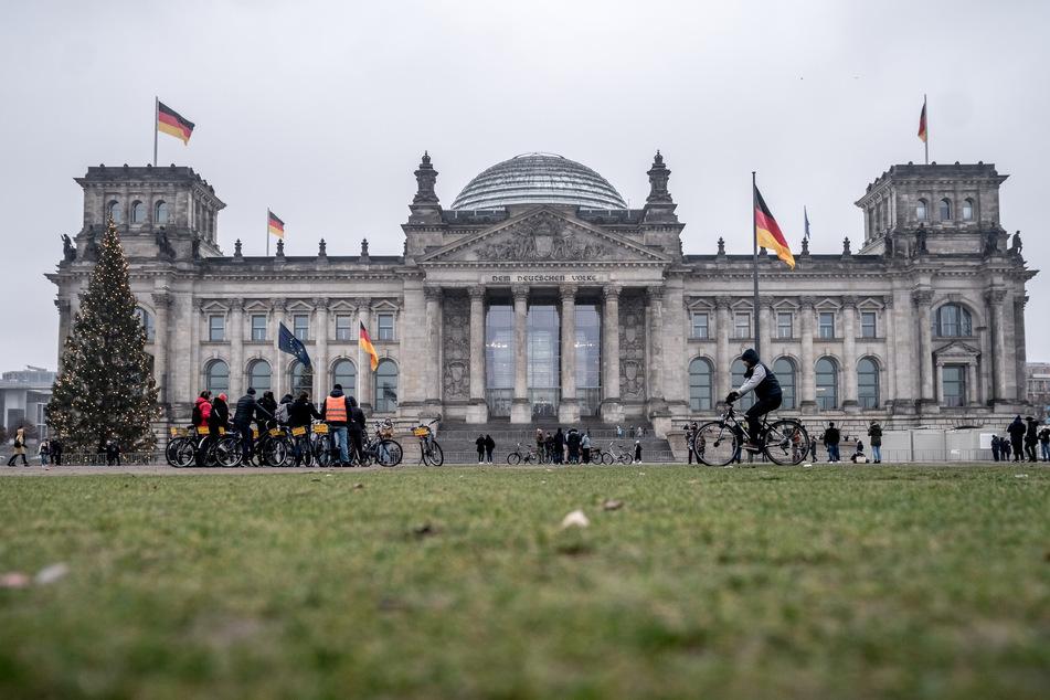 Der ehemalige Reichstag, Sitz des Deutschen Bundestags.