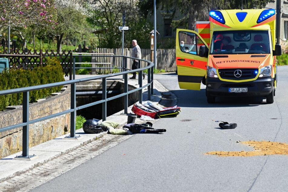 Die Rettungskräfte waren schnell am Unfallort.