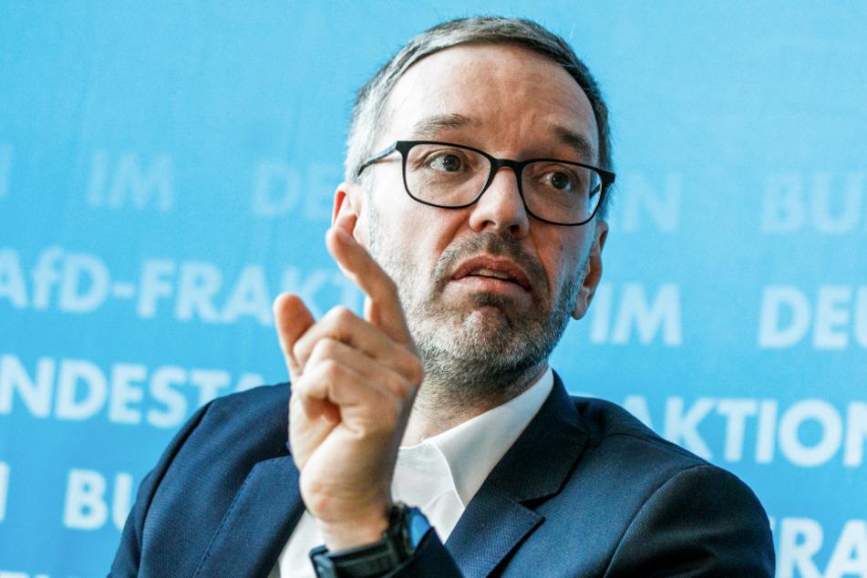 Herbert Kickl, Klubobmann der FPÖ, spricht Ende Januar bei einer Pressekonferenz der AFD Franktion im Bundestag.