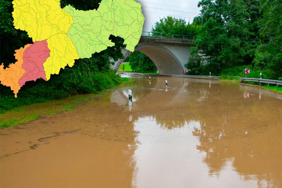 Dauerregen, Gewitter, Sturzfluten: So ist die aktuelle Lage in Sachsen!
