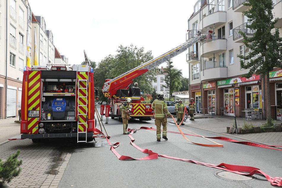Die Mobschatzer Straße musste während des Einsatzes voll gesperrt werden.