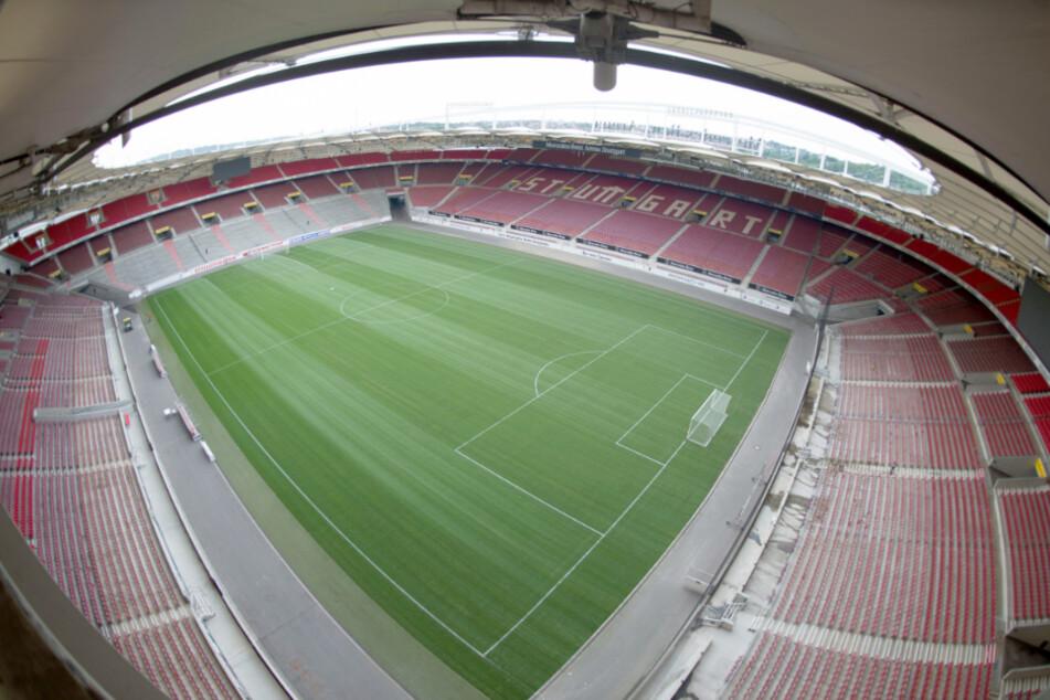 Die leere Mercedes-Benz Arena.