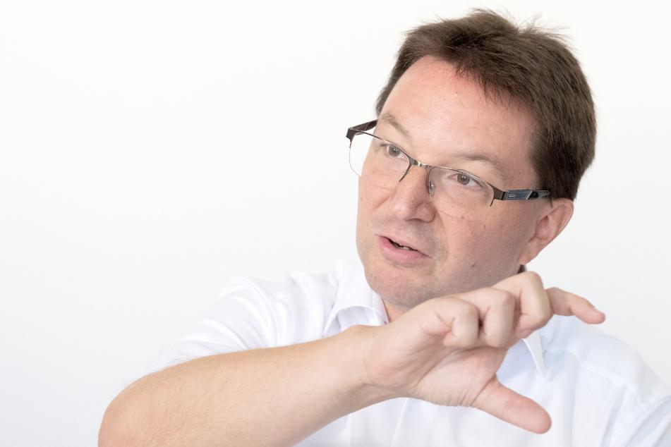 Michael Blume, der Antisemitismusbeauftragter der baden-württembergischen Landesregierung, aufgenommen bei einem Gespräch mit Journalisten.
