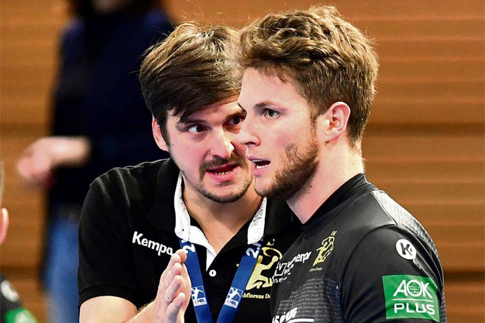 HCE-Coach Rico Göde (l.) hat seine Entscheidung revidiert, wird nun doch mit Nils Kretschmer weitermachen.