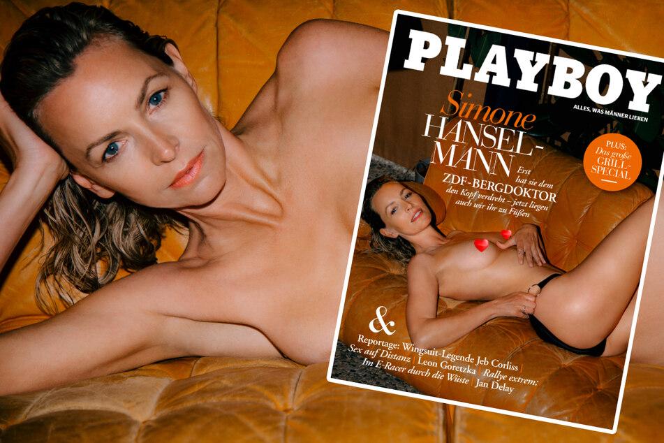 """Der Bergdoktor""-Star Simone Hanselmann nackt im Playboy!"