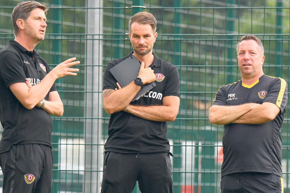 Haben eine schlagkräftige Truppe zusammengestellt: Sportgeschäftsführer Ralf Becker (l.), Chefscout Kristian Walter (M.) und Trainer Markus Kauczinski.