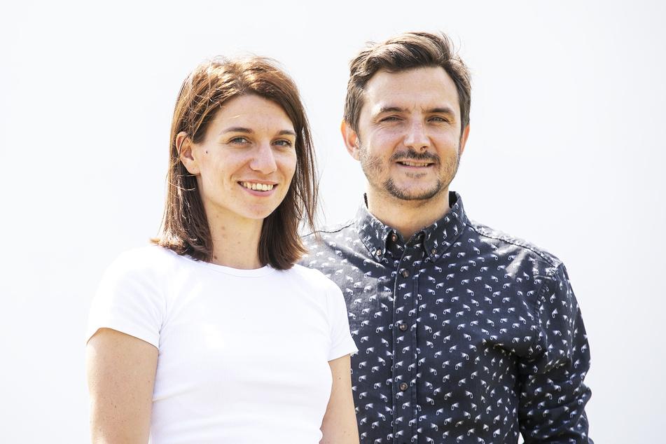 Die Veranstalter: Laura Pfeiffer (30) und Martin Vejmelka (38) von Landstreicher Kulturproduktionen.