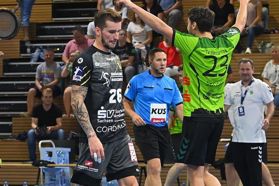 Nach der Niederlage gegen Emsdetten schlich Marek Vanco (Nr. 26) enttäuscht vom Parkett. Hoffentlich wiederholt sich das am Samstag in Großwallstadt nicht.
