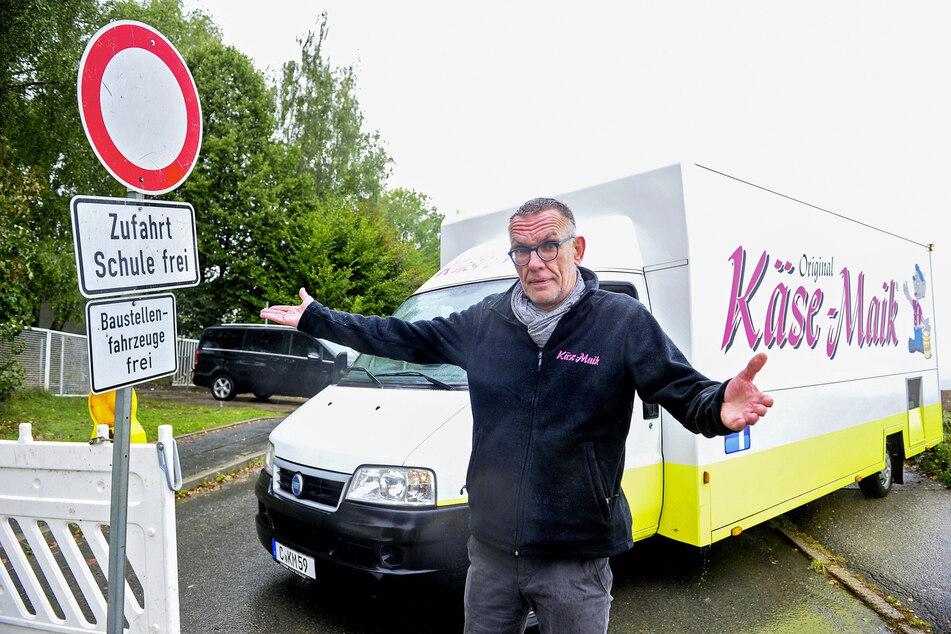 """""""Käse-Maik"""" Maik Schiede (56) versteht die Entscheidung der Stadt, doch er macht sich auch Sorgen."""