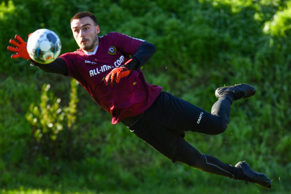 Stefan Kiefer trainierte in der Vorsaison schon mit den Profis, saß beim letzten Zweitligaspiel auf der Bank.