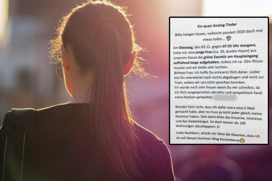 Attraktive junge Frau hält Mann die Tür auf: Jetzt sucht er nach ihr