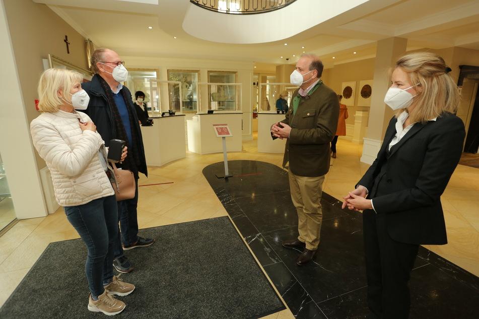 Im Hotel Naturressort Schindelbruch wurden die ersten Gäste sogar persönlich vom Hotelpersonal begrüßt.