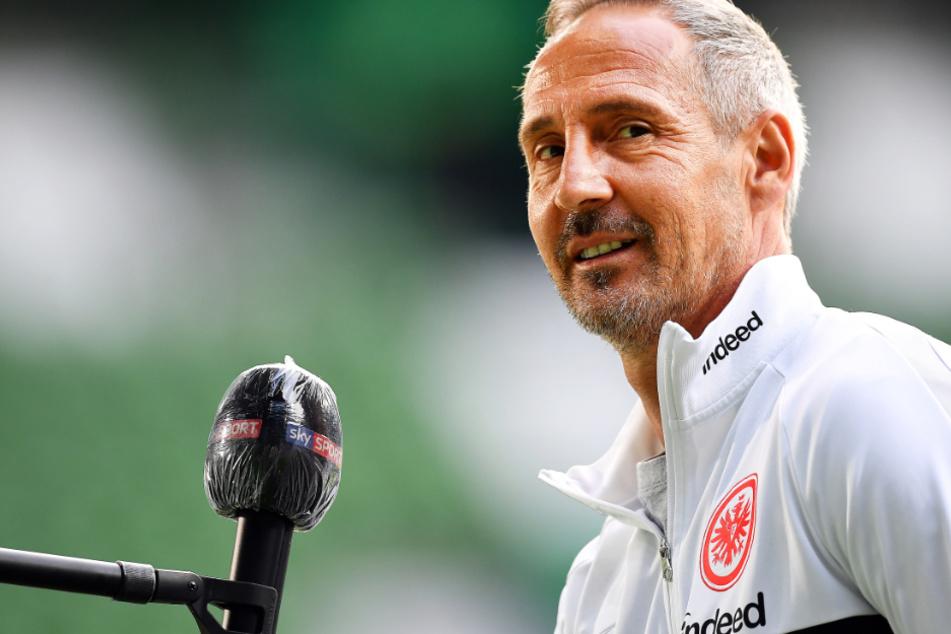 Das Bild vom 3. Juni zeigt Adi Hütter, den Chef-Trainer von Eintracht Frankfurt.