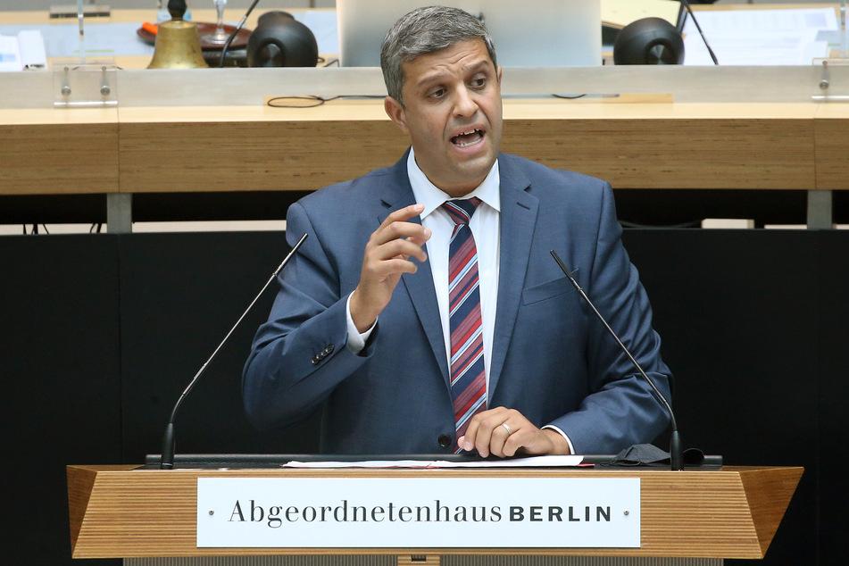 Raed Saleh (SPD), Fraktionsvorsitzender, befindet sich in Quarantäne.