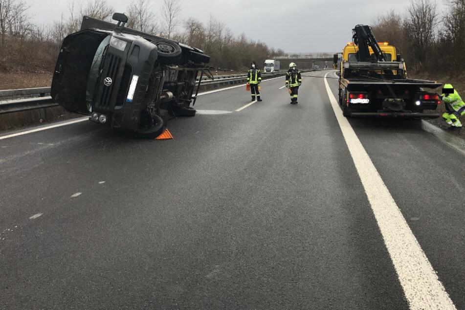 Verursachte Eichhörnchen Laster-Unfall auf Autobahn?