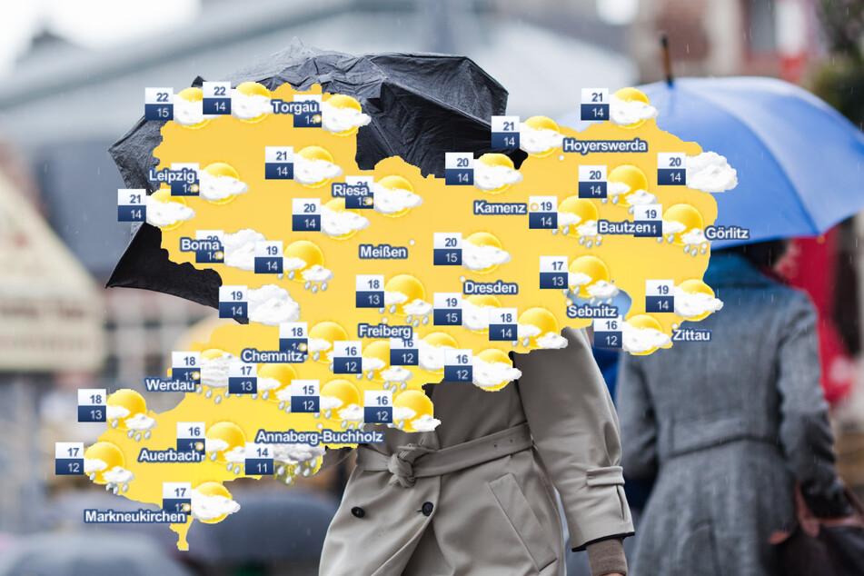 In der kommenden Woche sollte man in Sachsen stets mit einem Regenschirm ausgestattet sein: Es wird nass und kühl. (Symbolbild)