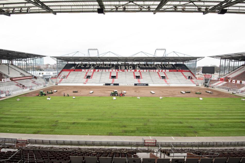 Blick in das Stadion des Fußball-Zweitligisten FC St.Pauli.