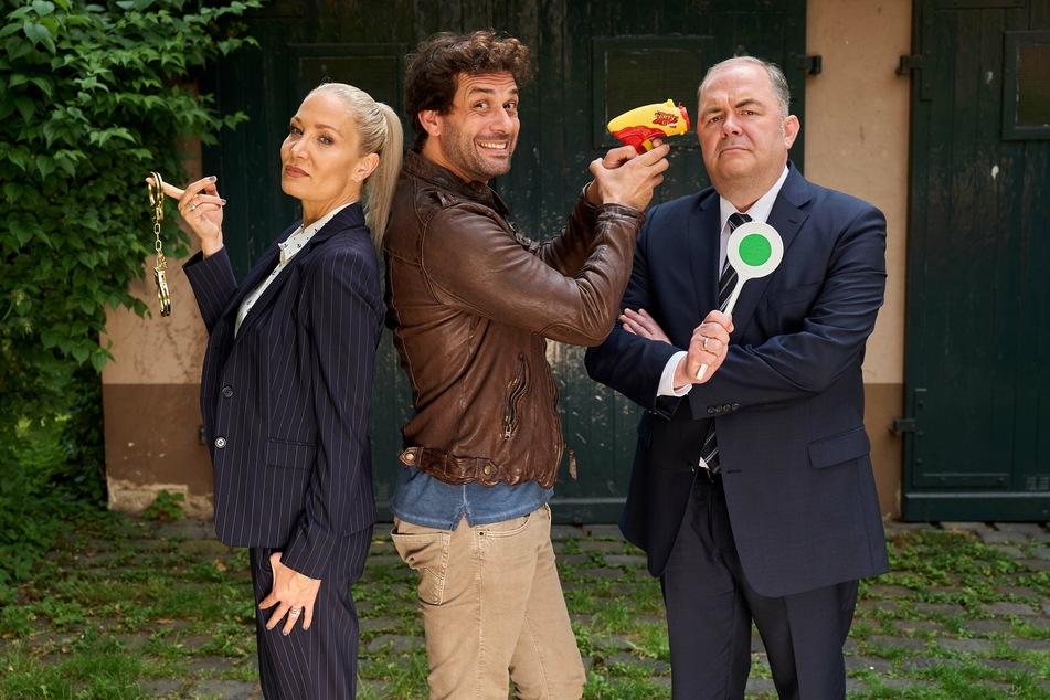 Ellen (Janine Kunze), Heldt (Kai Schuhmann) und Grün (Timo Dierkes). (Archivbild)