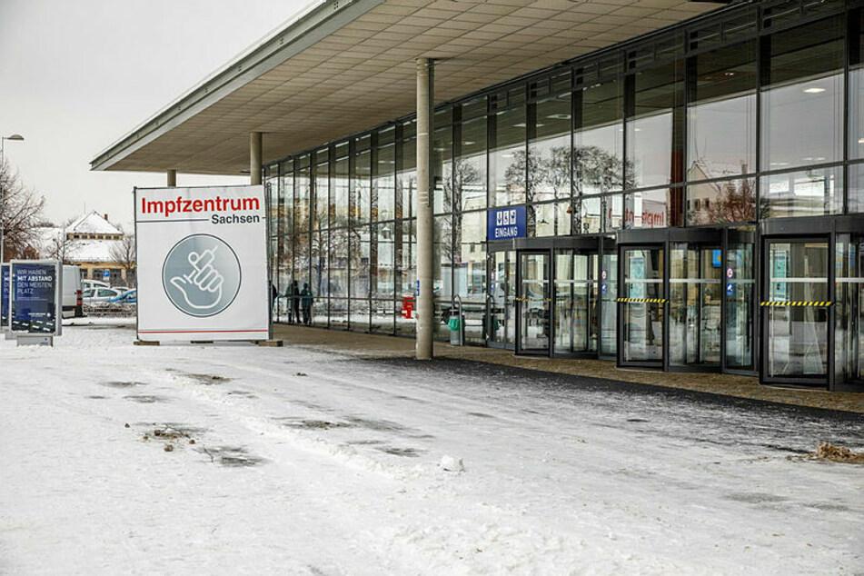 Meist leer: das Dresdner Impfzentrum. Auch her wurden Polizisten vorgezogen geimpft.