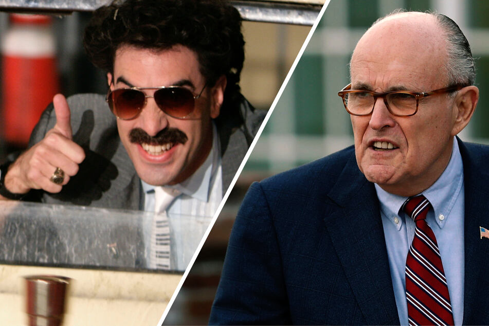 Giuliani denies claims of inappropriate behavior in the new Borat movie