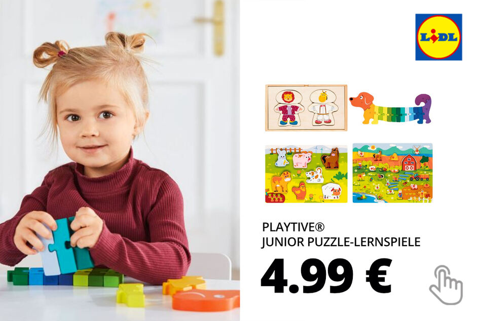 PLAYTIVE® JUNIOR Puzzle-Lernspiele