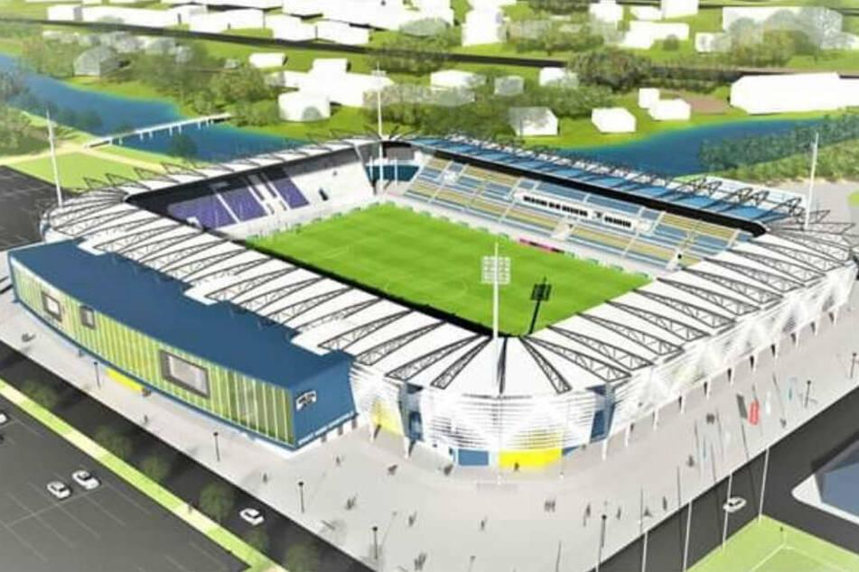 So sollte das neue Stadion aussehen.