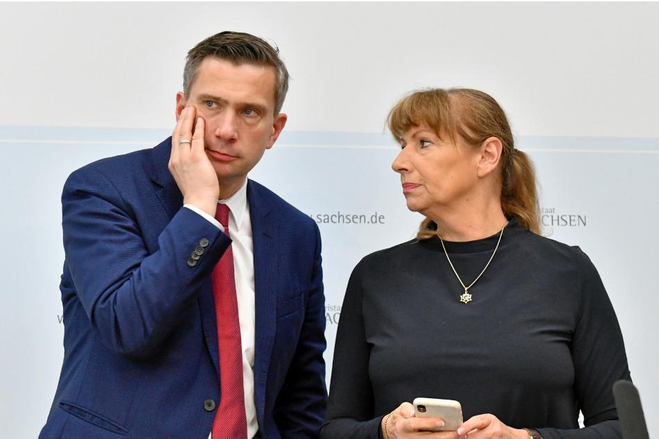 Wirtschaftsminister Martin Dulig (li.) und Staatsministerin Petra Köpping.