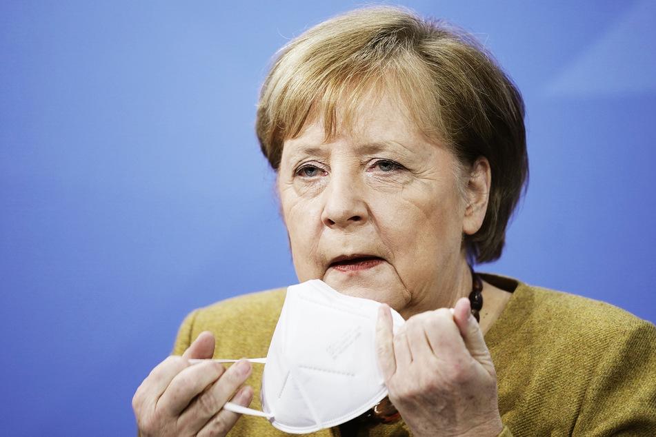 Bundeskanzlerin Angela Merkel (66, CDU), nimmt an einer Pressekonferenz teil.