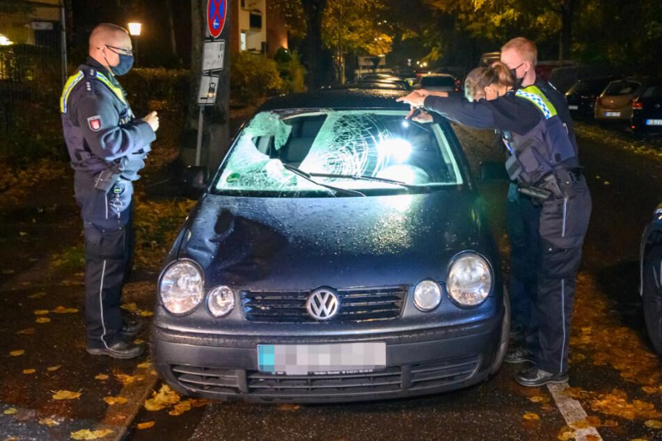Den Unfallwagen fanden die Beamten später in der Lortzingstraße.
