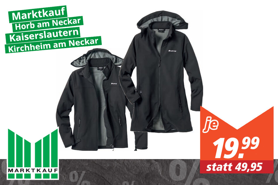 Lotto Damen/Herren Softshelljacke für 19,99 Euro
