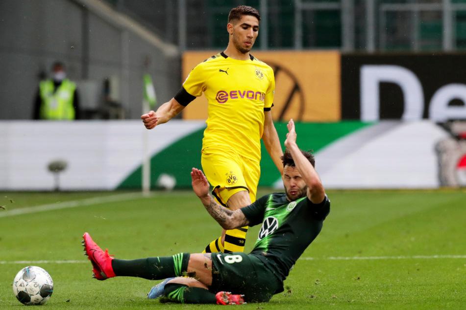 Achraf Hakimi (oben) traf für Borussia Dortmund zum 2:0.