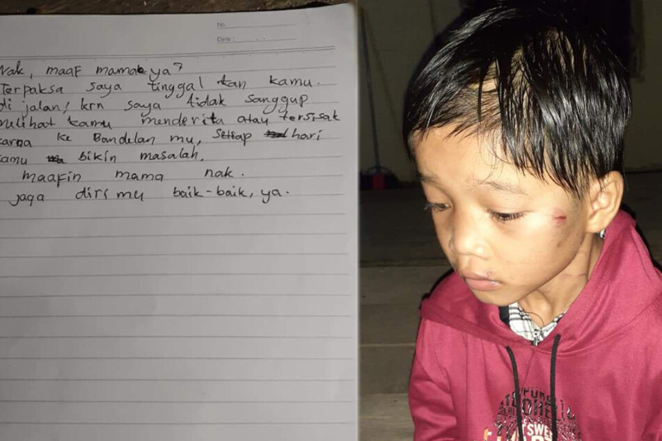 Abandoned for being naughty? Little boy left at gas station with a note