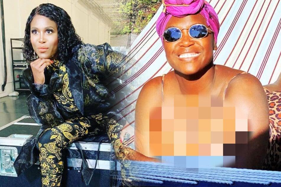 Hoppla: Fallen Motsi Mabuse hier etwa die Brüste aus dem Badeanzug?