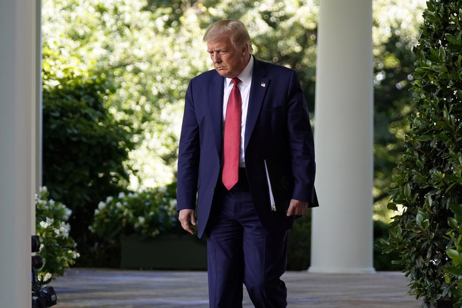 14. Juli, Washington: Donald Trump, Präsident der USA, geht zu einer Pressekonferenz im Rosengarten des Weißen Hauses.