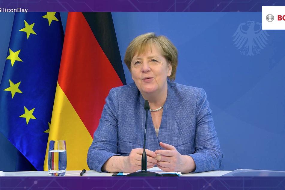 Bundeskanzlerin Angela Merkel (66,CDU) war zur Eröffnung per Video zugeschaltet.
