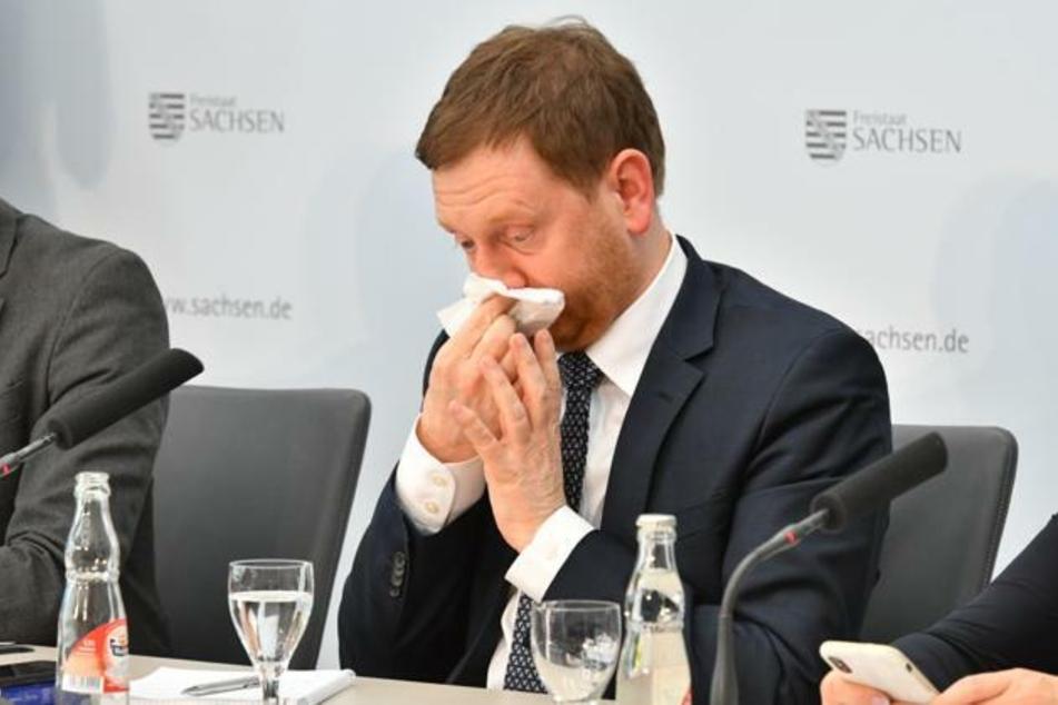 MP Kretschmer ist selbst ein wenig erkältet.