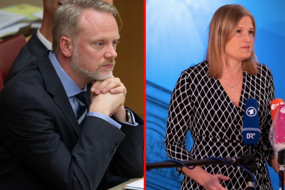 """Gegen Scheibe geschlagen? Unruhe um """"Vorfall"""" in AfD-Fraktion mit Ebner-Steiner und Singer"""