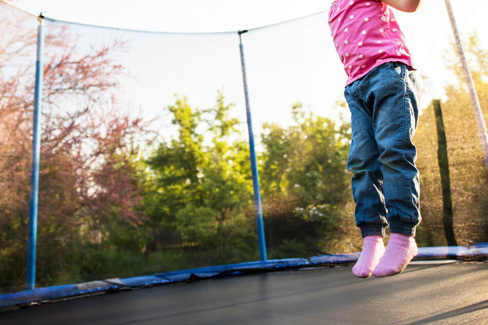 Little girl is forced to jump on trampoline until she dies