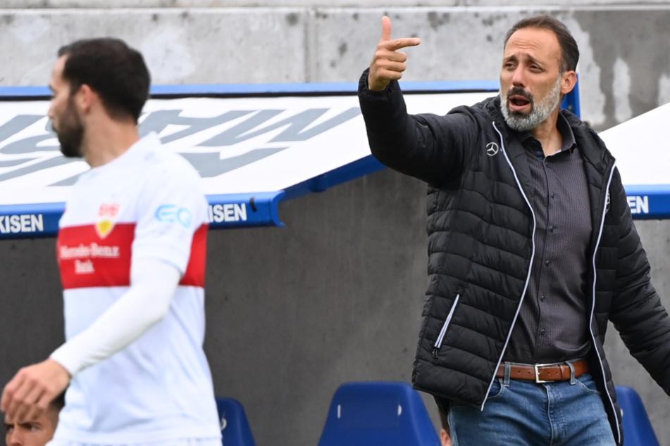VfB-Coach Pellegrino Matarazzo (42, rechts) fordert von seiner Mannschaft am Sonntag dieselbe Energieleistung wie beim vergangenen Kantersieg.
