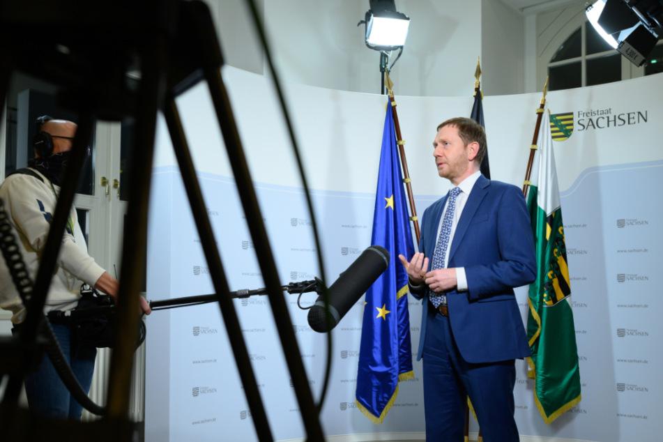 Ministerpräsident Michael Kretschmer (45, CDU) sprach im ZDF über die Corona-Lage in Sachsen.