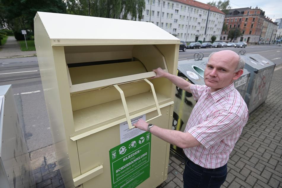 CDU-Stadtrat Kai Hähner (47) will die Vergabe von Standplätzen für Altkleidercontainer prüfen lassen.