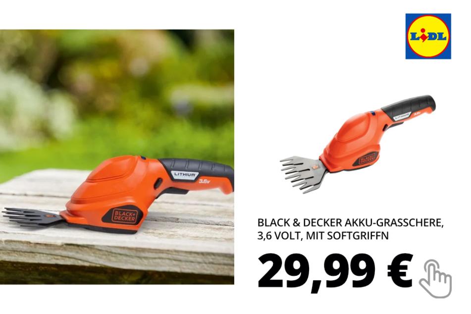 Black & Decker Akku-Grasschere