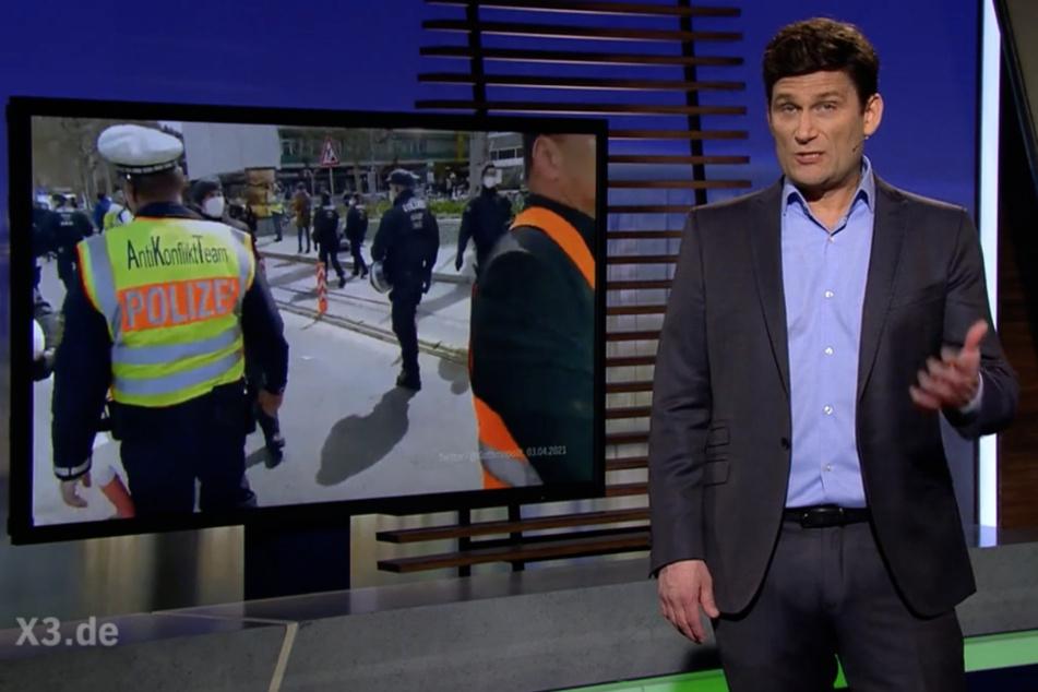 """Hält nicht viel vom Polizeieinsatz in Stuttgart: """"Extra 3""""-Moderator Christian Ehring (48)."""