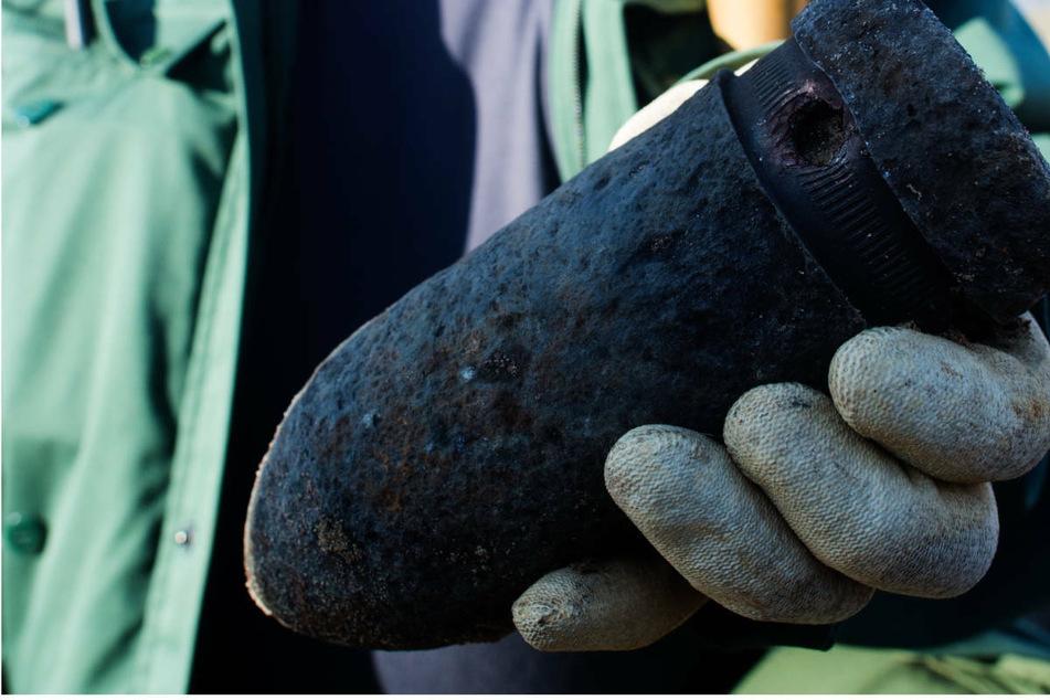 Gleich zwei Granaten aus dem Zweiten Weltkrieg wurden am Donnerstag im nordhessischen Werra-Meißnee-Kreis gefunden. (Symbolbild)