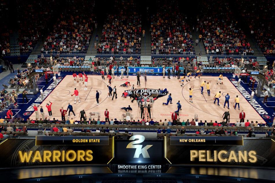 Ordentlich was los auf dem Court: In NBA 2K21 auf den Next-Gen-Konsolen wurde auch ein Augenmerk auf die Atmosphäre in der Halle gelegt.