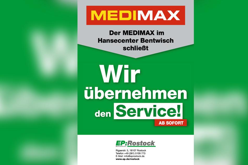 Bei Service- und Garantiefragen nach der Schließung wendet Ihr Euch einfach an EP: Rostock.