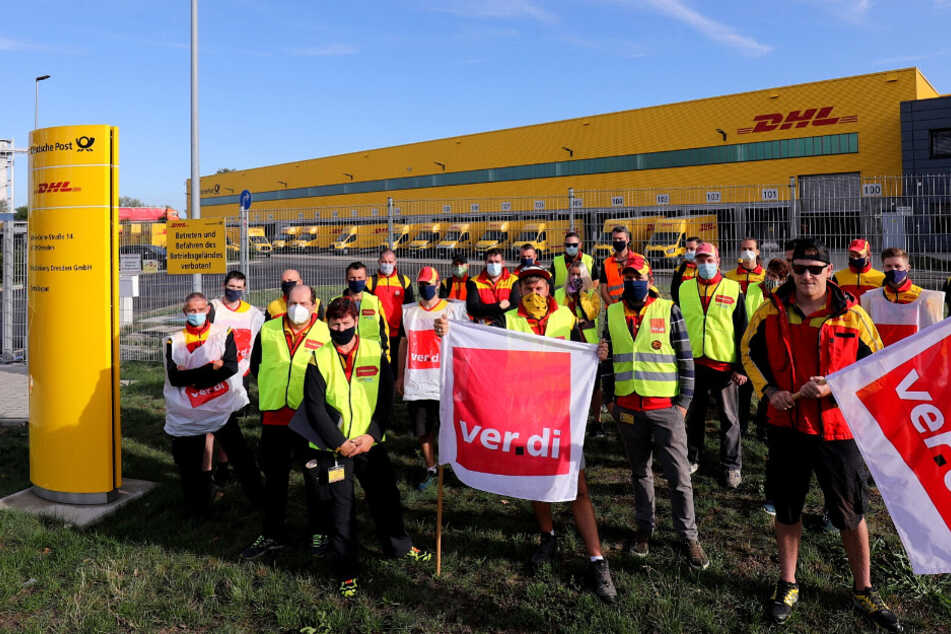 Streik bei der Deutschen Post in Sachsen: Hunderte Mitarbeiter legen die Arbeit nieder!