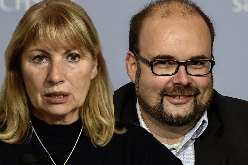 Sachsens Gesundheitsministerin Petra Köpping (63, SPD) und Kultusminister Christian Piwarz (45, CDU). (Bildmontage)