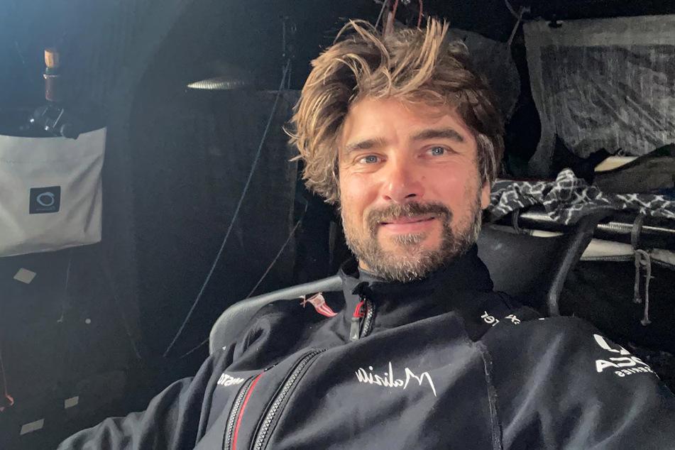 "Segler Boris Herrmann (39) in seiner Rennyacht ""Seaexplorer – Yacht Club de Monaco""."