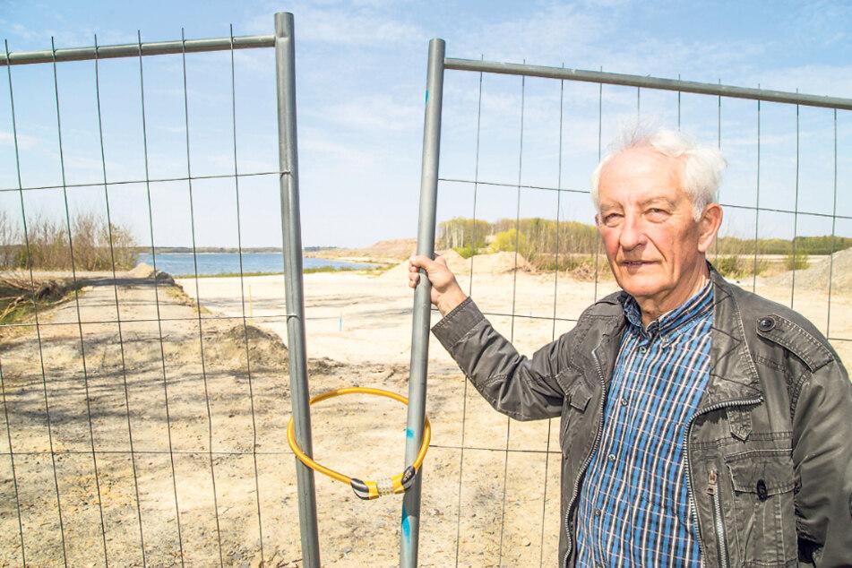 Werner Petrick will nicht lockerlassen im Kampf um den See-Zugang.